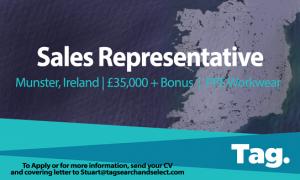 PPE Workwear Sales Representative, Munster, Ireland, £35,000 + Bonus