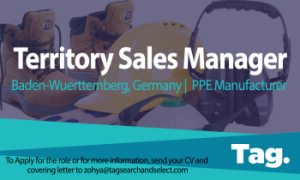 Territory Sales Manager, PPE Manufacturer, Baden-Wuerttemberg, Germany