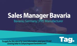 PPE Manufacturer Sales Manager, Bavaria, Germany