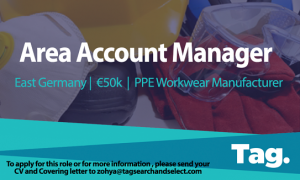 PPE Workwear Manufacturer Area Account Manager, East Germany