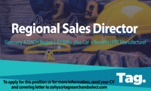 PPE Manufacturer Regional Sales Director, Germany & DACH region