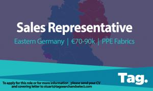 PPE Fabrics Sales Representative, Eastern Germany, €70-90k