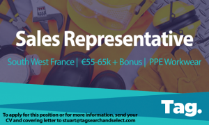 PPE Workwear Sales Representative, South West France, €55-65k + BONUS