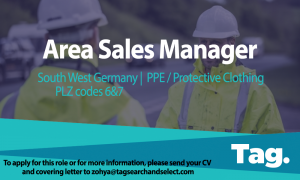 PPE & Protective Clothing Area Sales Manager, South West Germany