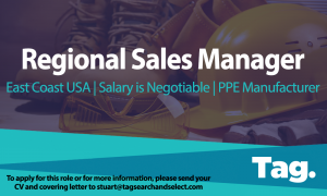 Regional Sales Manager Vacancy, East Coast USA